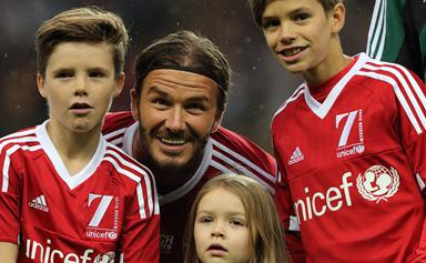 David Beckham proves he's the ultimate family man!