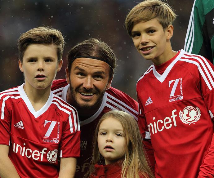 David, Romeo, Cruz and Harper Beckham