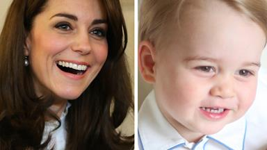He got it from his mama! George and Catherine face-off