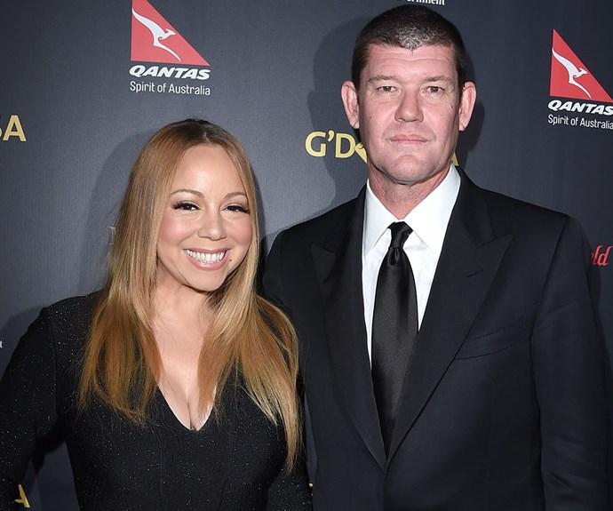 James Packer and Mariah Carey