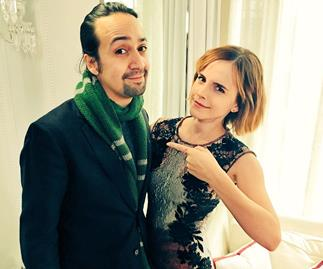 Emma Watson and Lin-Manuel Miranda