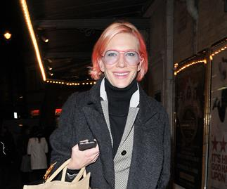 Cate Blanchett shows off hot pink hair