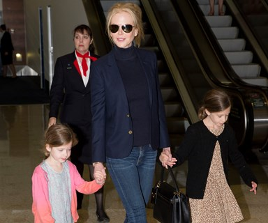 Nicole Kidman and her daughters hop back to Sydney to spend Easter with her family