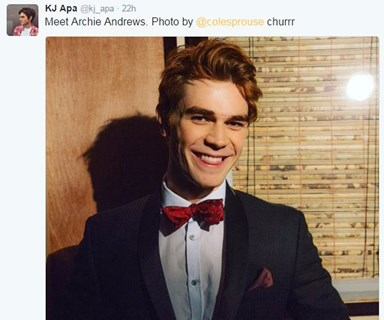 KJ Apa debuts red hair for new role as Archie Andrews in Riverdale