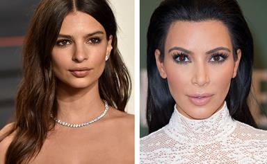 Kim Kardashian and Emily Ratajkowski team up for topless selfie against haters