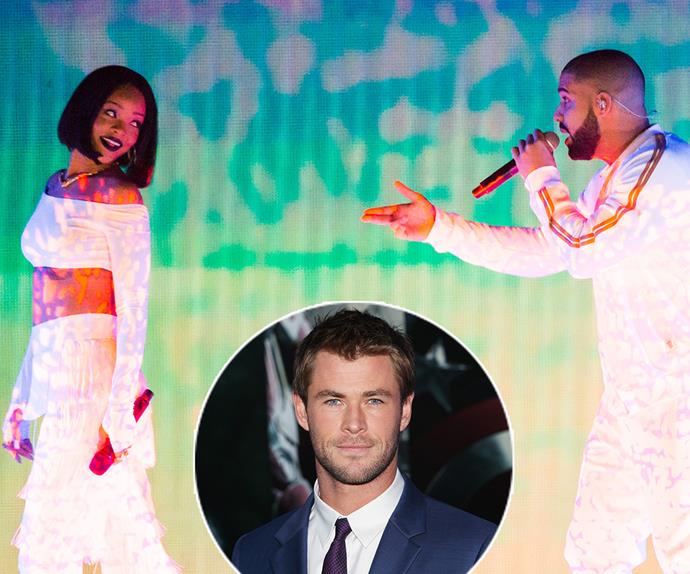 Chris Hemsworth, Rihanna, Drake