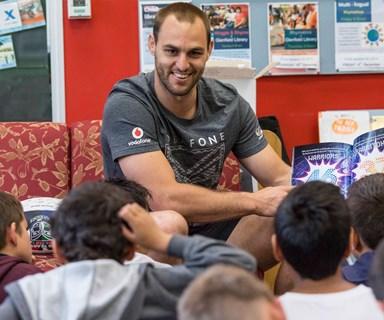 Warriors stars team up to encourage Kiwi kids' writing, reading skills