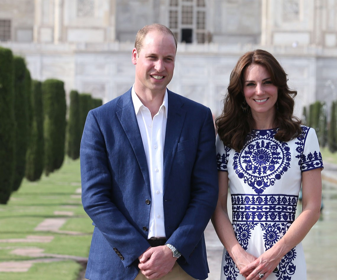 The couple visited the iconic site at the end of their first official tour of India and Bhutan.