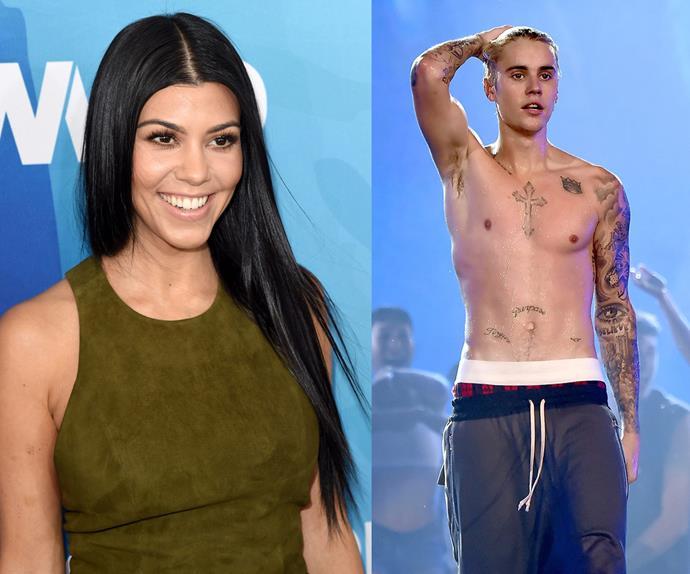 Justin Bieber and Kourtney Kardashian