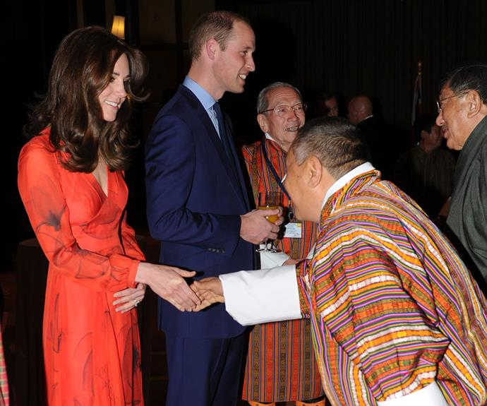 Following their adventurous day, the royal couple swapped their hiking gear for more formal attire as they headed to a reception to celebrate the UK and Bhutanese friendship. The bash was held at the Taj Hotel on Friday, April 15, in Thimphu, Bhutan.