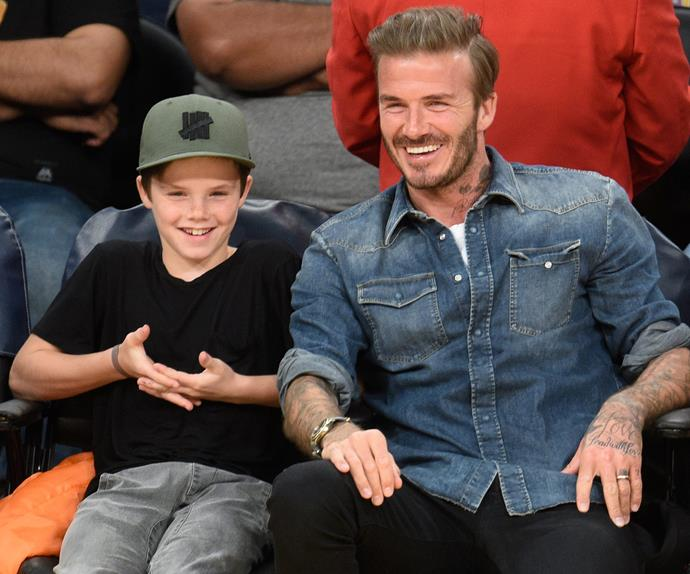 David and Cruz Beckham