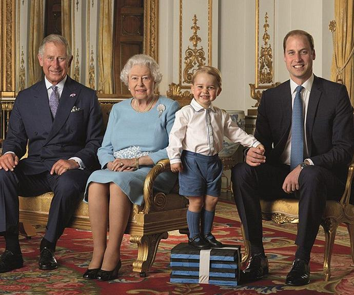 Yesterday, the palace released this new image of four generations of the British royal family. The stunning family portrait will also be used as four separate stamps to commemorate the Queen's 90th birthday.