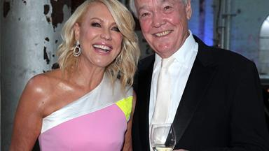 """I'm so happy!"" Kerri-Anne is radiant as hubby John Kennerley makes his first public appearance"