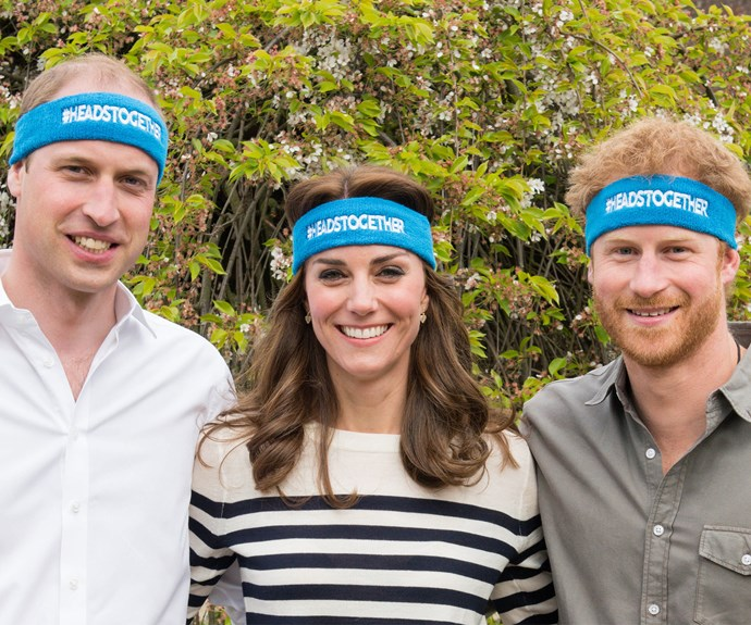 Putting their heads together! Prince William, Duchess Catherine and Prince Harry have worked tirelessly for mental health this year.