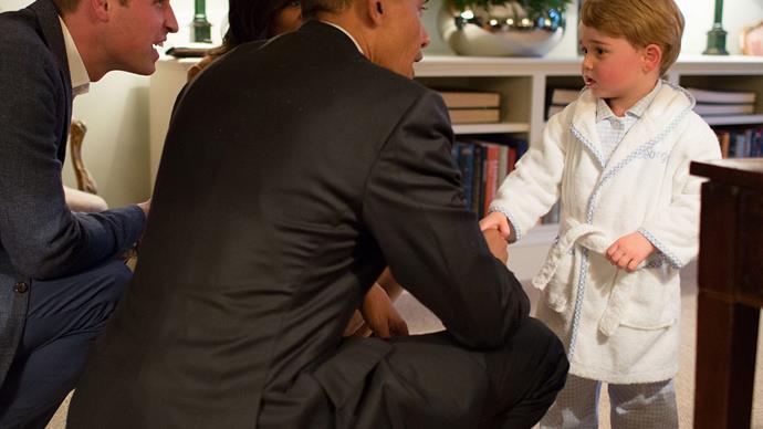 Prince George and Obama