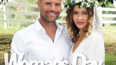 Nicola Robinson and Pete Evans tie the knot