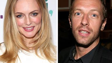 Chris Martin and Heather Graham enjoy a beach stroll
