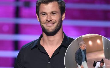 Chris Hemsworth surprises a fan at work with massages and tequila