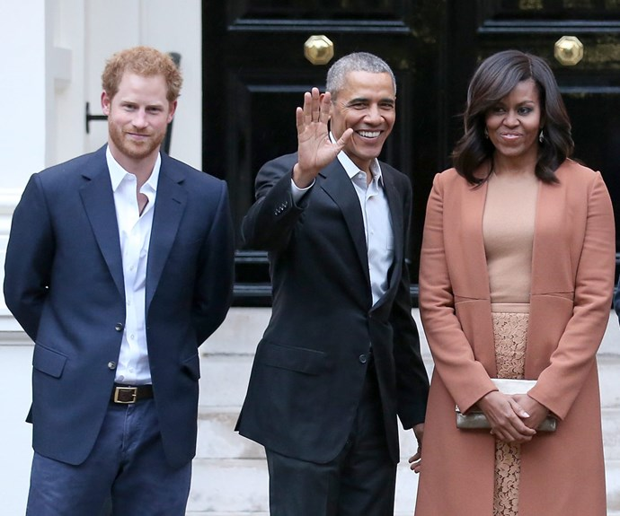 Harry is BFFs with the Obamas