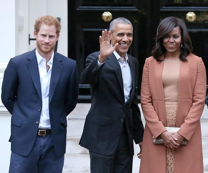 Prince Harry Barack Obama Michelle Obama