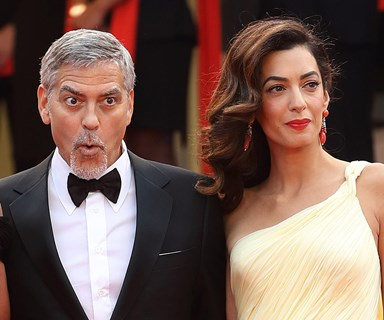 Stunning Amal Clooney avoids wardrobe mishap at Cannes