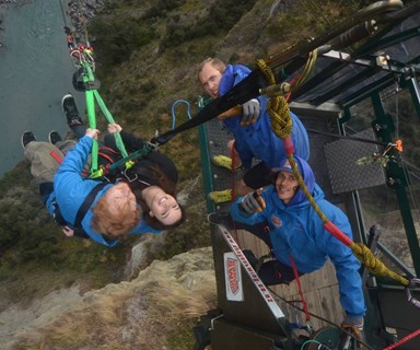 Ed Sheeran braves Queenstown canyon swing with Peter Jackson's daughter