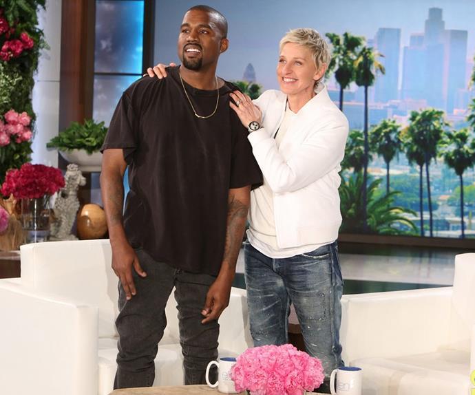 Kanye West and Ellen Degenres