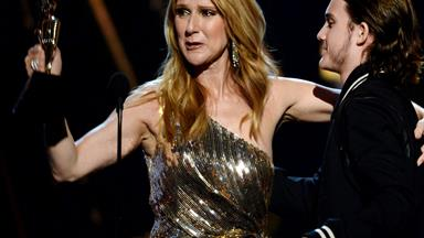 Celine Dion is surprised by her son at the Billboard Music Awards