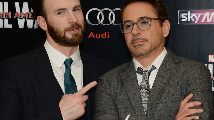 Chris evans Robert Downey Jr