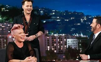 Pink Johnny Depp Jimmy Kimmel