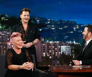 Pink, Johnny Depp and Jimmy Kimmel