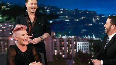 Pink lost it when she met her crush Johnny Depp