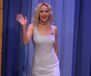 Jennifer Lawrence stuns in silver see who else we spotted