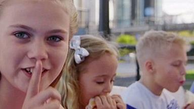 Bec and Lleyton Hewitt's kids make their TV debut