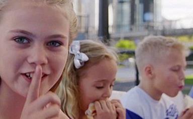Bec and Lleyton Hewitt's kids make their TV debut