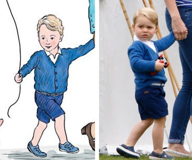 Prince George and the Queen meet Winnie the Pooh!