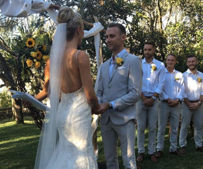 """It was a beautiful day to marry the man of my dreams,"" Morgan gushed."