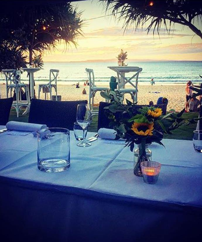 The wedding reception was held at Sails Restaurant in Noosa.