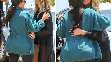 Chrissy Teigen takes baby Luna to meet Kim and Kanye