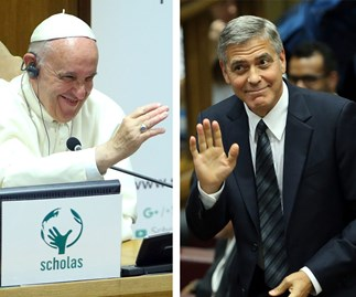 George Clooney meets the pope