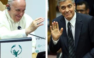 George Clooney Pope Francis