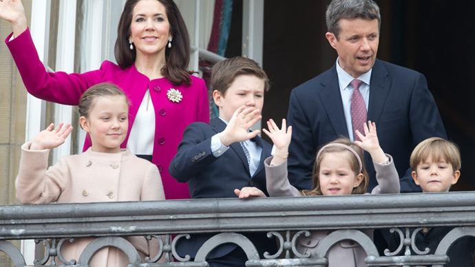 Princess Mary, Prince Frederik, Princess Isabella, Prince Christian, Princess Josephine, Prince Vincent