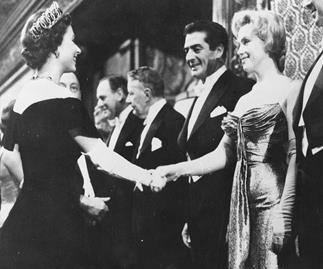 Queen Elizabeth and Marilyn Monroe