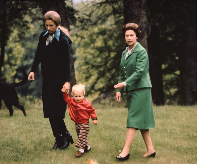 The Queen takes a stroll with her daughter Princess Anne and her granddaughter Zara through the grounds of Balmoral Castle in Scotland. Photo: Gamma-Keystone via Getty