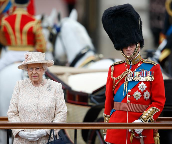 Prince Philip and the Queen during the Trooping the Colour celebrations in honour of her birthday. Photo: Max Mumby/Indigo