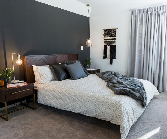 House 5: Emma and Courtney played it safe with this simple yet stylish bedroom.