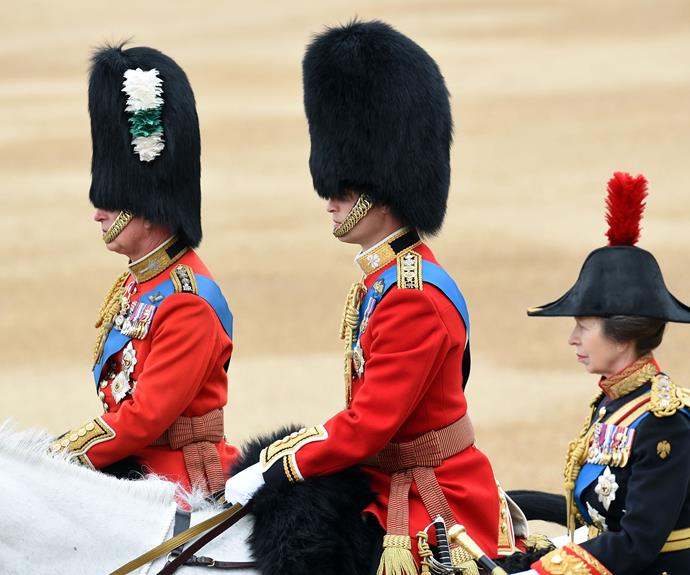 Prince Charles, Prince William and Princess Anne take part.