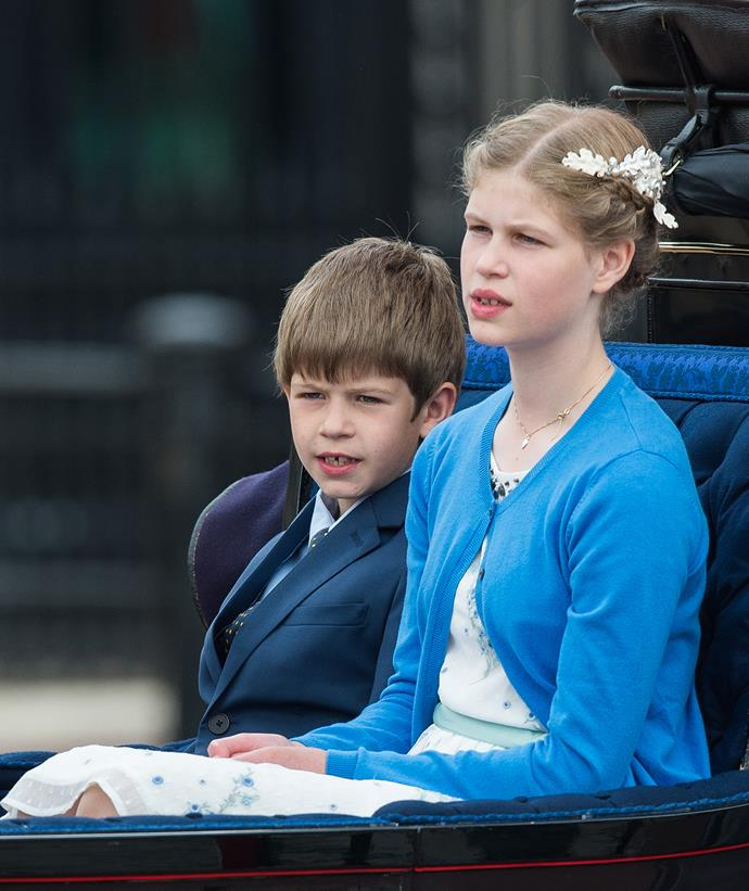 And they were joined by their children, Lady Louise Windsor and James, Viscount Severn.