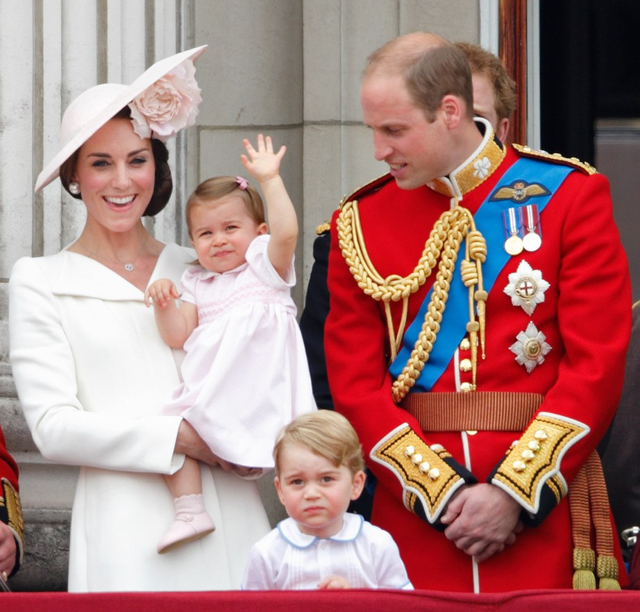 Princess Charlotte made her Buckingham Palace balcony debut at Trooping the Colour in 2016, already having perfected her royal wave. *(Image: Getty)*