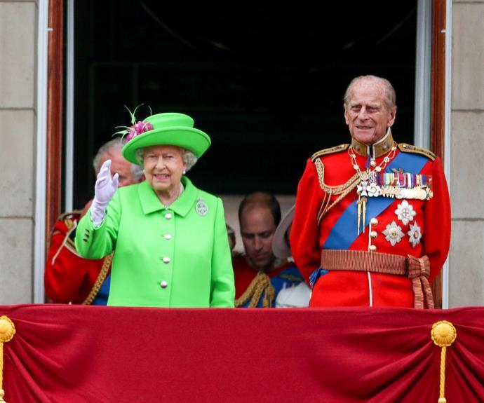 Prince Philip is always close to Queen Elizabeth II.